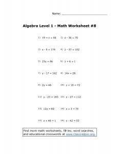 college algebra worksheets college algebra grade math worksheets