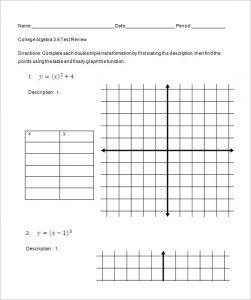 college algebra worksheets printable algebra worksheets