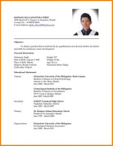 college applicant resume template resume format for ojt pdf en resume resume cover letter example template image resume for hrm ojt students resume imagerackus