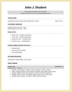 college applicant resume template sample resume for college application