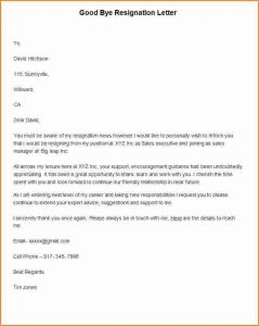 college application letter great resignation letter good bye resignation letter