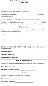 college essay format template college essay template