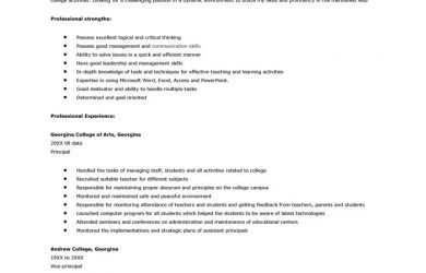 college resume format college application resume sample template