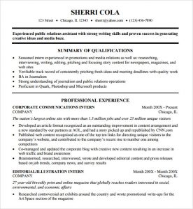 college resume format sample college resume template
