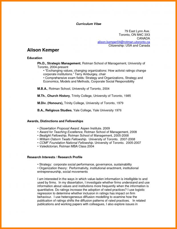 college resume formats