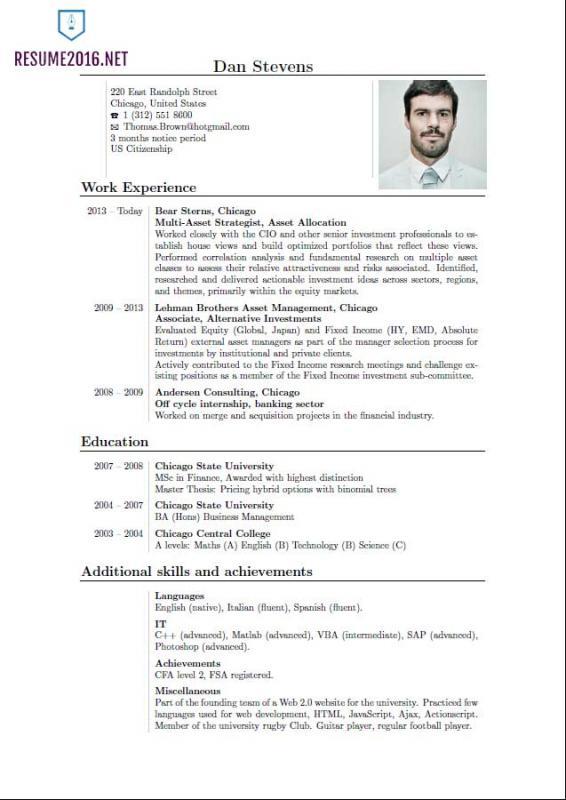 college resume templates