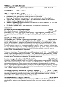 college resumes samples office assistant resume