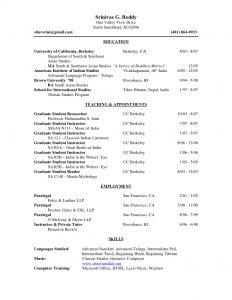 college resumes samples sample academic curriculum vitae skills