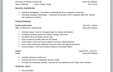college student resume examples resume