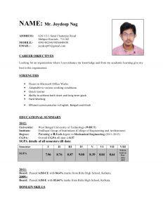 college students resume samples cv college