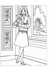 coloring pages of barbie ausmalbilder barbie haus ausdrucken