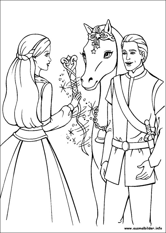 coloring pages of barbie