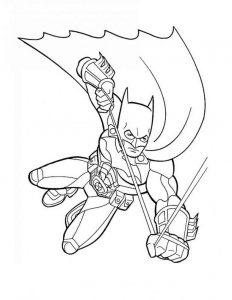 coloring pages of barbie batman