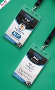 comment card template conference vip entry pass id card template psd preview