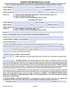 commercial lease agreement template word maryland realtor residential lease agreement x