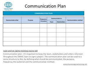 communication plan example slide