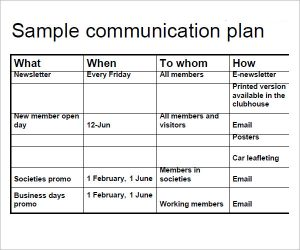 communication plan template media communication plan template