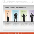 competitor analysis templates free swot analysis presentation template
