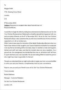complain letters samples complaint letter response
