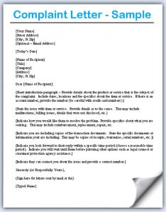 complaint letters samples how to write a complaint letter ptewg