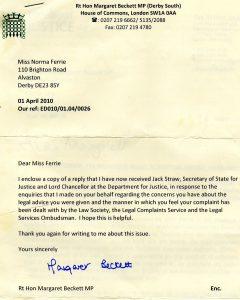 complaints letters samples margaret beckett mp