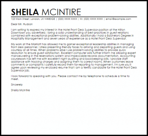complaints letters samples hotel front desk supervisor