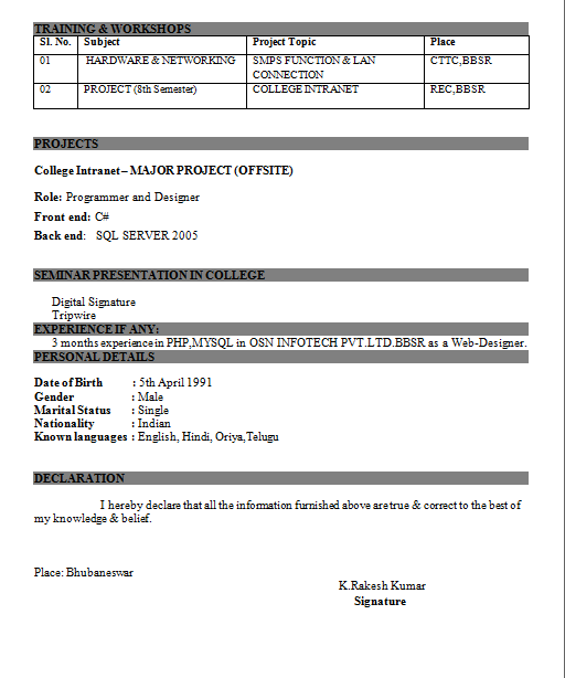 computer engineer resumes