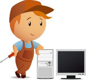 computer repair website template computer repair service vector