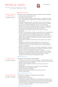 computer science resume example computersciencedepartmentheadcomputerscienceteacherresume example