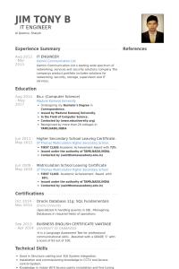 computer science resume example itengineerresume example