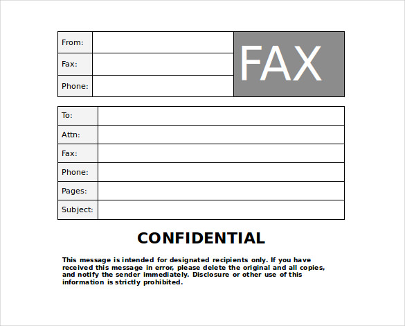 Confidential Fax Cover Sheet | Template Business