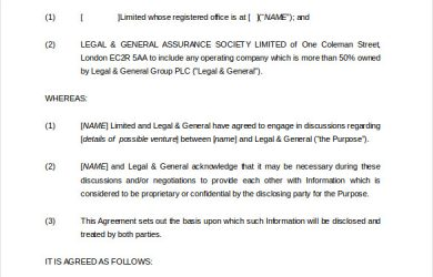 confidentiality agreement template conflict confidentiality agreement template