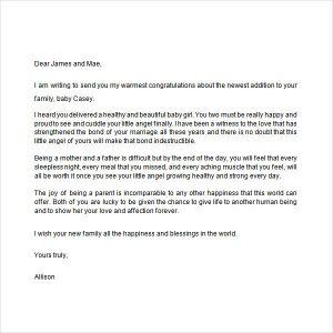 congratulation e mail new baby congratulations letter