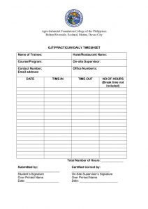 consent form template aifcp seafarer rating course ojt forms
