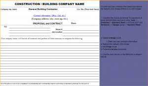 construction bid template contractor proposal template construction proposal contract template