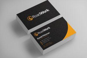 construction business card construction worker business card design