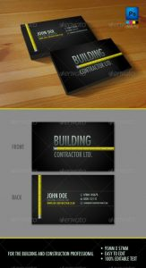 construction business card professional construction workers business card x