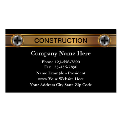 construction business cards