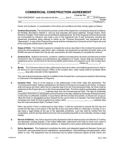 construction contract sample commercial construction agreement sample
