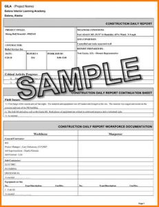 construction daily report daily construction report sample daily report web pg template