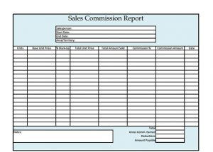 construction daily report template sales commission report template