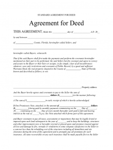 construction resume template standard agreement for deed florida d