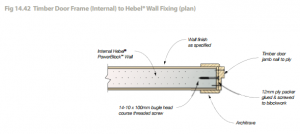 construction safety plan fig timber door frame internal to hebel® wall fixing plan