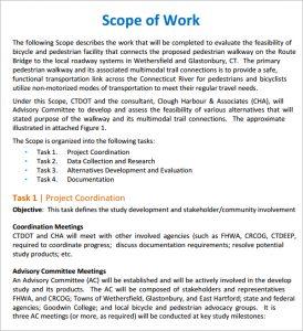 construction scope of work scope of work template velfnum