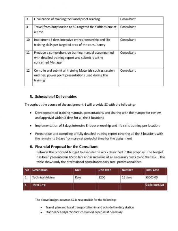consultant proposal template