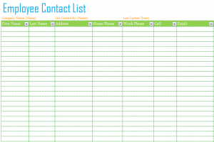 contact list template employee contact list template featured image