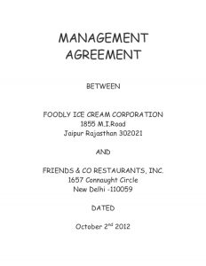 contract labor agreement management agreement sample