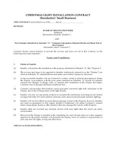 contract proposal template christmas light display contract residential and small business