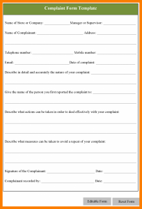 contract proposal template complaint report template complaint form template