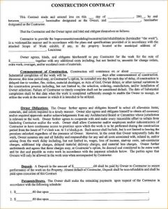contract proposal template example contract construction contract